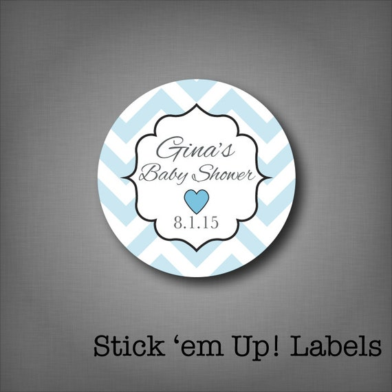 Baby Shower Stickers For Favors: Personalized Baby Shower Favor Stickers