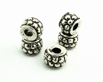 Geometric Antique Silver Beads SKU#BGE0009 Quantity: 25