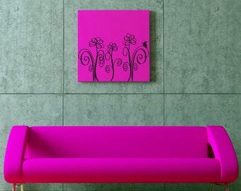 Simple Flowers - vinyl wall decor