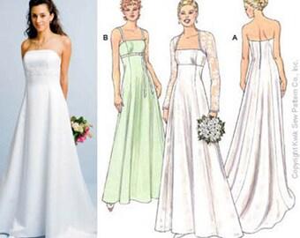 Sewing Pattern - Special Occasion Pattern, Gowns Pattern, Bolero Pattern, Kwik Sew #K3400