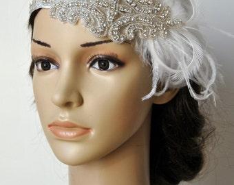 Flapper Crystal 1920s  Rhinestone Headband Headpiece,The Great Gatsby, Bridal wedding Headband, Bridal crystal rhinestone Headpiece