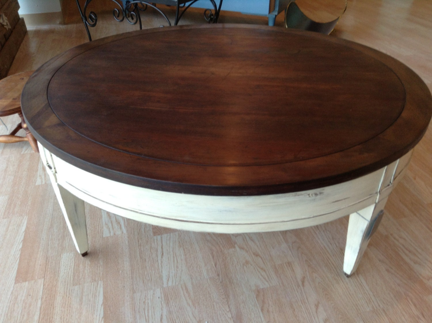 Large Round Vintage Coffee Table