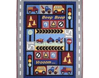 Kids Quilts Traffic Jam Truck Fire Engine Car Applique Quilt Pattern