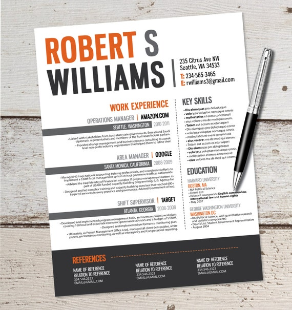 the robert resume design graphic design marketing sales
