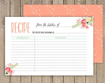 Recipe Cards | Etsy UK
