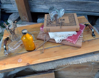 Rustic Serving Tray, Cheese Board, Timber Wedding Platter, handcrafted from reclaimed wood from salvaged fencing.