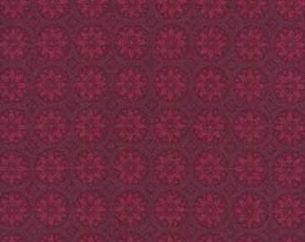 Cranberry Red Fabric, Benartex Christmas Spectacular 2729 Kitty Yoshida, Marsala Fabric, Red Christmas Quilt Fabric, Maroon Cotton, Sale