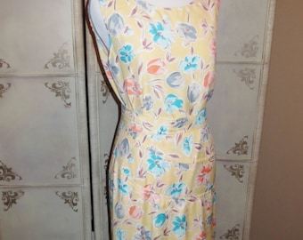 Vintage Yellow Floral  Skirt and Blouse Set 1930's Retro