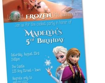 Frozen In Summer Birthday Invitation (Personalized) {Digital File}