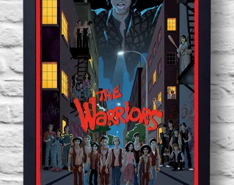 The Warriors- 1979 Movie Poster Print, cult film poster, illustration, painting, art, gift