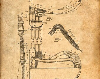 Patent Print of a Saddle Patent Art Print Patent Poster