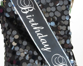 30th Birthday Sash, 21st, 25th, 50th, 40th Birthday Sash, OR Design Your Own, FREE PERSONALIZATION Trim,Bling & Bow Available by Sashanation