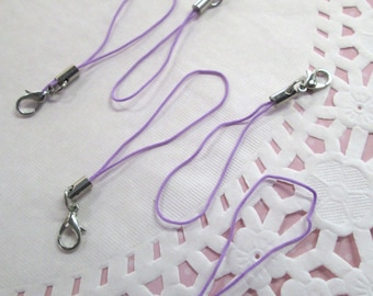 15 Purple Cell Phone Straps with clasp, #855b