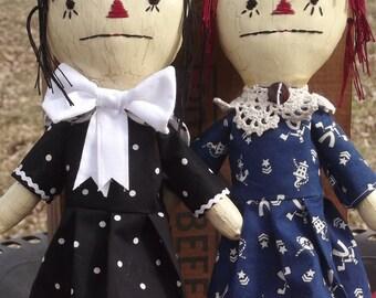 "Primitive Rag Doll E-  Pattern "" Little Nostalgia""  13"" tall  (HAFAIR)"