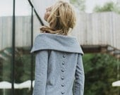 Soft sweater | Light gray sweater | Button back sweater | LeMuse soft sweater