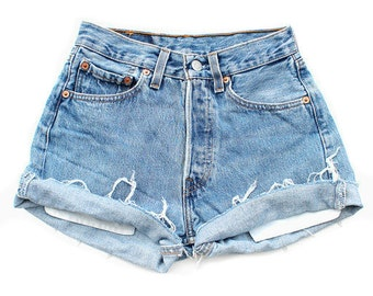 "All Sizes Custom Made "" CUFFED""  High Waist Shorts Plus Sizes"
