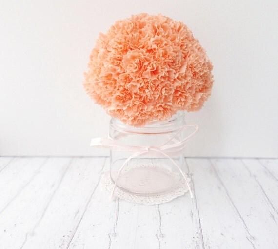 DIY Paper Flowers Pdf Tutorial Instructions Paper Carnations Spring Decor Wedding Flowers Home Decor Instant Download Summer Decor