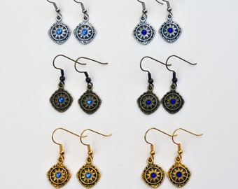 Explorer Earrings - Silver, Gold, and Antique Bronze