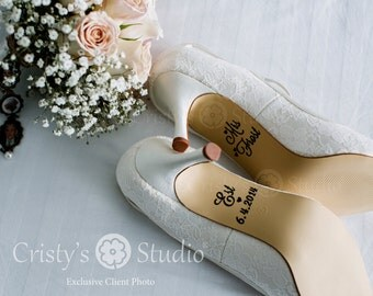 Wedding Shoe Stickers / Wedding Shoe Decals