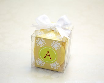 Kids French Macaron Boxes, Boys and Girls Party Favors - Set of 24 Kids Favor Boxes