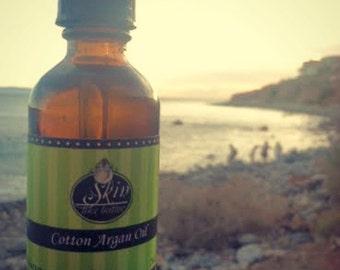 Cotton ORGANIC ARGAN OIL || Cold Pressed || 2 oz || Scented Argan Oil