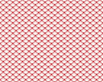 Scallop Fabric - Found Shell Red from Lost and Found 2 by My Mind's Eye for Riley Blake C3694 Red - 1/2 yard