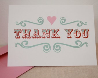 Thank You with Carnival Font and Heart