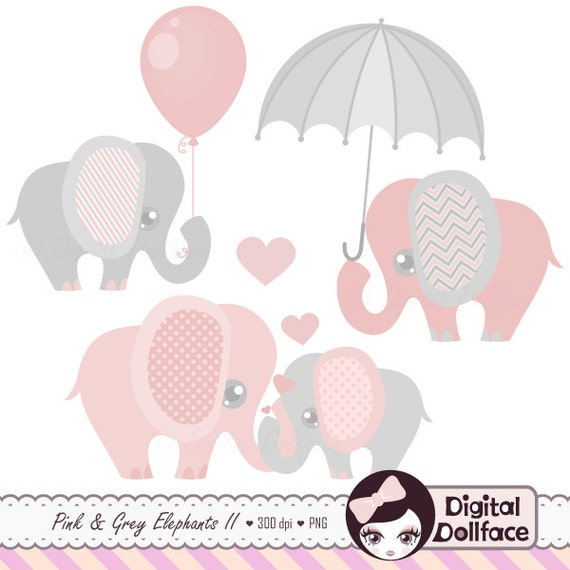 ... Grey Elepha... Elephant Baby Shower Clipart