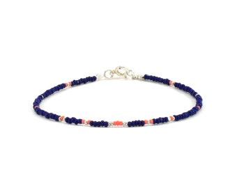 Bracelet «Grigri Delicacy», blue, pink, silver