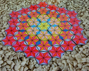 Mandala Art Gift for Kids, Holiday Activity for Children, Fun Logic Puzzle Game, Preschool Present Gift, Montessori  Hexagon Shape