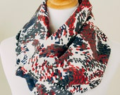 Wave Shapes Print Cowl Scarf | Infinity Scarf