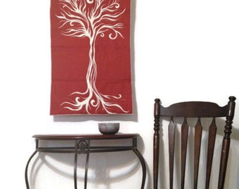 Tree Tapestry Wall Art Quilted Wall Hanging Nature Wall Decor