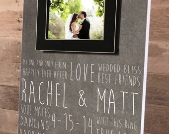 Gifts for the Bride, Gifts for the Groom, Personalized Picture Frame, Custom 14 x 19, Wedding Day Gifts, Personalized Wedding Gift, Frame
