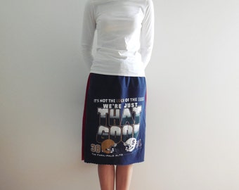 Notre Dame Football TShirt Skirt Fighting Irish Tee Skirt Stanford T-Shirt Recycled T Shirt Skirt Handmade Skirt Cotton Skirt ohzie