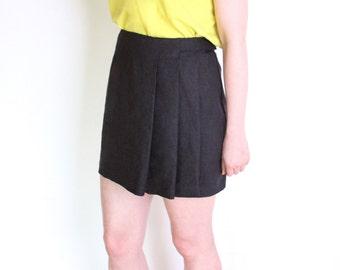 Pleated mini skirt | Etsy