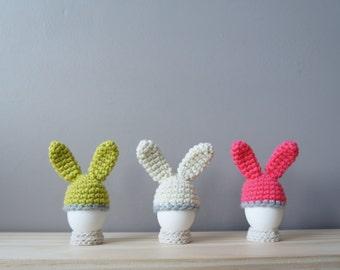 Easter Bunny Egg Cozy, Rabbit Ear Egg Warmer, Easter Table Décor, Spring Decoration, Modern Easter, Bunny Hat, Egg Cover, Easter Decoration