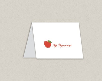THE TEACHER personalized stationary