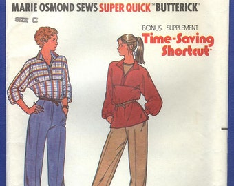 1980s Marie Osmond Sews Misses' Tunic & Pants - Butterick Sewing Pattern 6422