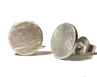Earrings of Carla, genuine discs of Silver 925