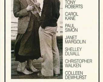 Annie Hall Diane Keaton Woody Allen 1977 Rare Poster
