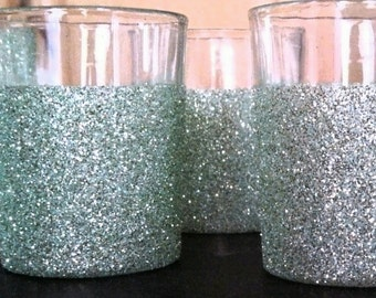 48 Glittered or Painted Votive Candle Holders