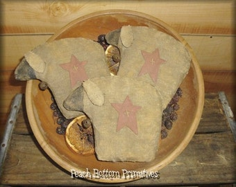 ePattern~Primitive Sheep Bowl Fillers Ornies Dolls
