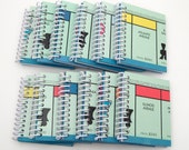 Recycled Mini Journal - Monopoly Notebook - Upcycled Notebooks - Spiral Notebook - Bulk Wholesale lot