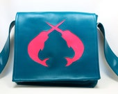 Narwhal Vinyl Messenger Bag