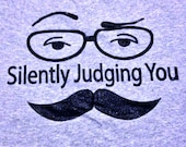 Silently Judging You adult t-shirt
