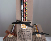 Halloween pencil packs - ideal for classroom favors, treat bags, trick or treaters, etc.!