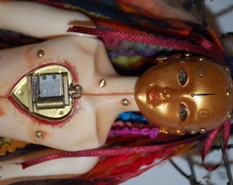 OOAK Ball Jointed Art Doll, Clockwork Madonna