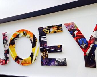 4 letters- CUSTOM TRANSFORMERS alphabet letters