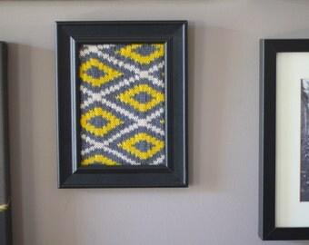 Excelsior Knitting Pattern Wall Hanging framed art