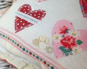 Shabby Valentine Decorative Pillow - Love Is